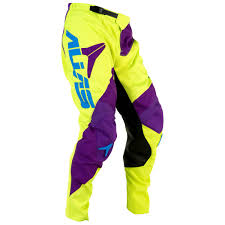alias motocross gear kalhoty alias mx a2 neon yellow purple 16 mx shop freestyle shop