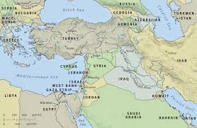 Modern Middle East Map by Maps Religion