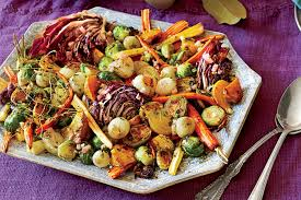 the make ahead thanksgiving menu roast vegetable salad