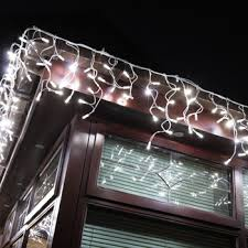 6m 228 white led outdoor icicle lights costco uk