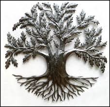 Wall Decor Metal Tree Haiti Gallery Handcrafted Metal Art Recyced Steel Drums