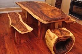 Log Dining Room Table Rustic Wood Log Furniture House Design