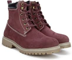 s leather boots shopping india woodland leather boots buy lmaroon color woodland leather boots