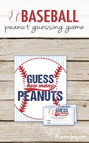guess how many peanuts game baseball baby shower peanut