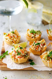 canape cups recipes chicken salad wonton cups food made and easy
