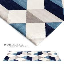 Geometric Bath Rug Gray And Blue Rug Rugs Gray Blue Striped Rug By Surya Gray And