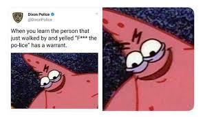 Patric Meme - illinois police tweets evil spongebob meme about retaliatory