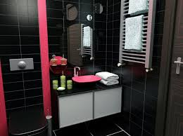 Best Pink  Black Home Interior Designs Images On Pinterest - Black bathroom design ideas