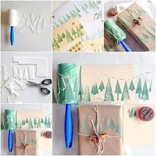 wonderful diy christmas tree roller stamp using a lint roller