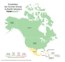 North America Map Labeled by These Maps Divide The World Into Four Income Groups