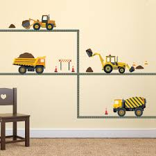 2 freight trains straight railroad track wall decals wall four construction vehicle wall decals with straight gray road wall dressed up 1