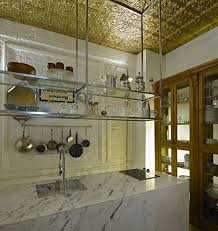 Hanging Shelves From Ceiling by Fantastic Kitchen Ayazpasa House In Istanbul Wonderful Gold