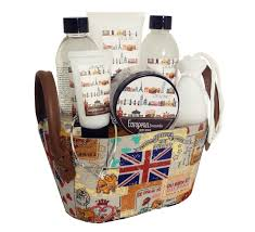 7 piece british themed black orchid bath and shower lotion gel spa