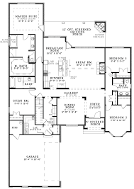 1 story open one story floor plans crtable
