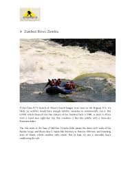 the best 10 whitewater rafting spots globally
