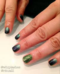 beautiful cnd shellac and cnd additives glitter over liquid