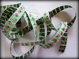 ladybug ribbon jacquard embroidered ladybug ribbon multi green 9 16 inch wide