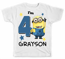 Purple Minion Shirt Toddler Youth Toddler Birthday Shirts Ebay