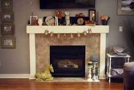 decorations easy thanksgiving fireplace mantel in modern home idea