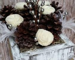 Winter Wedding Centerpieces Pinecone Centerpiece Etsy