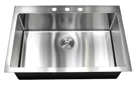 Single Kitchen Sinks by 33 Inch Topmount Drop In Stainless Steel Kitchen Sink Package