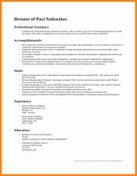 Career Summary Examples For Resume by Resume Career Summary Resume For Your Job Application