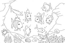 kids download fish coloring pages adults print tank pictures