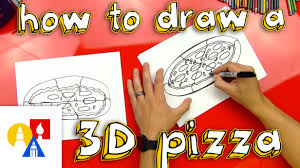 how to draw a 3d pizza youtube