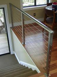 Banister Railing Interior Cable Railing With Continuous Stair Hand Rail Zoom In