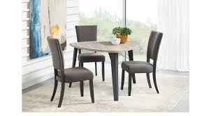 evander gray 4 pc triangle dining set casual