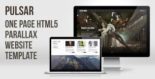 pulsar one page html5 parallax website template avathemes parallax