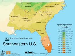 Map Of South Florida by South East Us Plant Hardiness Zone Map U2022 Mapsof Net