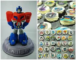 these transformers cakes and cupcakes are ready to roll out