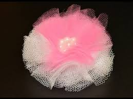 tulle flowers how to make a tulle flower