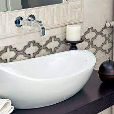 Bathroom Stone Tile by Bathroom Patterned Tiles On Natural Stone Artisan Stone Tile