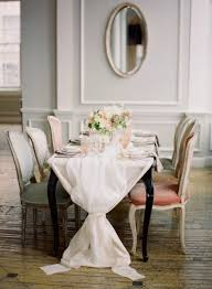 make a table cloth or runner out of cheese cloth loosely gathered