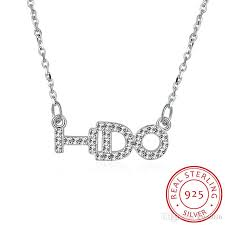 sted necklace wholesale 925 sterling silver letter i do zirconia pendant