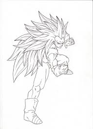 ssj3 fighting pose sketch moxie2d deviantart