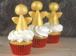 Christmas Cake Angel Decorations by How To Make Golden Angel Cupcake Toppers Bake Happy