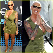 amber rose shows off her tattoos at bet awards 2017 2017 bet
