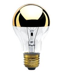 half gold light bulb 60 watt half gold bulb vintage light bulb