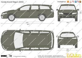 2007 honda accord dimensions the blueprints com vector drawing honda accord wagon