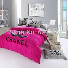 Playboy Bunny Comforter Set International Fashion Brand Logo Printed Pink Bedding Sets Black