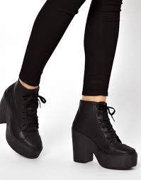 ugg boots sale asos asos all things lace up ankle boots in black lyst