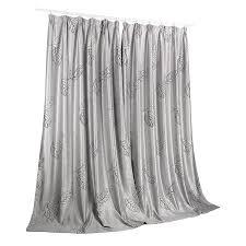 Leaf Pattern Curtains Leaf Pattern Eco Friendly Silver Window Curtains