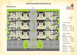 row house floor plan vibrant inspiration 2000 sq ft row house plan 3 plans in 1000