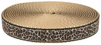 leopard ribbon buy 3 4 inch leopard print ribbon on copper gold webbing
