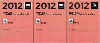 2012 chevy cruze repair shop manual original 3 volume set