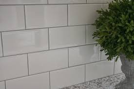 White Subway Tile Kitchen Backsplash Delorean Gray Grout With White Subway Tile Tile Pinterest