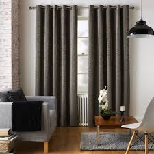 Jeff Banks Duvet Ennerdale Charcoal Eyelet Ring Top Chenille Curtains By Jeff Banks